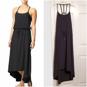 "Athleta ""Novella"" High Low Dress Shelf Bra Black"